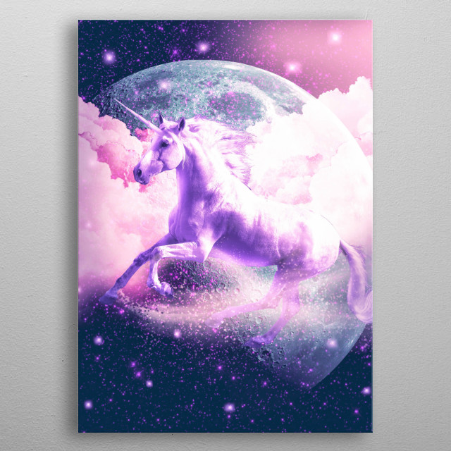 Pick up this epic space unicorn design. metal poster