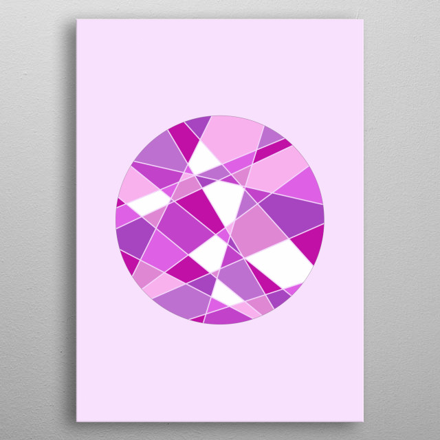 Geometric Circle - Based on Gradient Colors. To see more geometric paintings, check my geometry collection.  metal poster