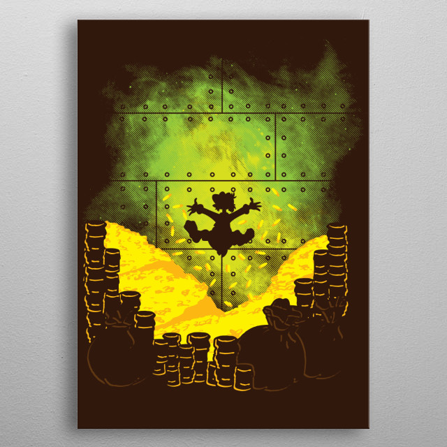 """Inspired by the cartoon TV Show """"Ducktales."""" I hope you like it! :) metal poster"""