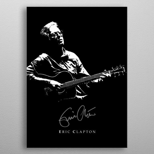 Eric Clapton - rock-blues-music - Martin Acoustic Guitar metal poster