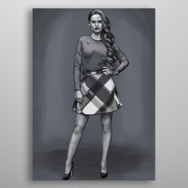 Black & White portrait of Cheryl Blossom. metal poster