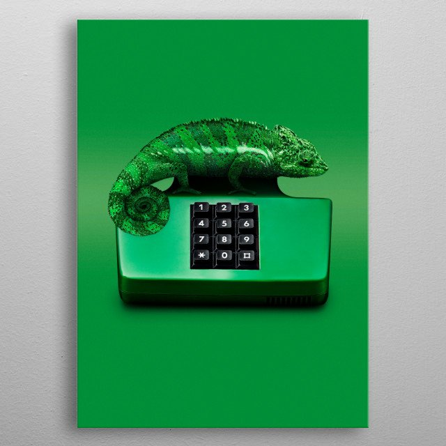 Chamelephone metal poster