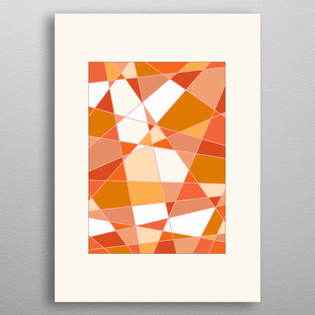 Geometric Rectangle - Based on Gradient Colors. To see more geometric paintings, check my geometry collection.  metal poster