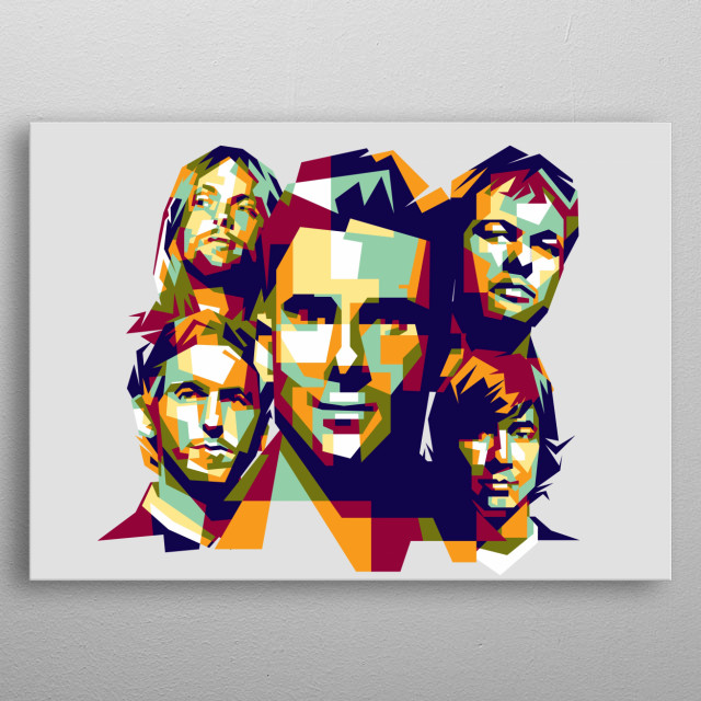 American pop rock band from Los Angeles, California metal poster