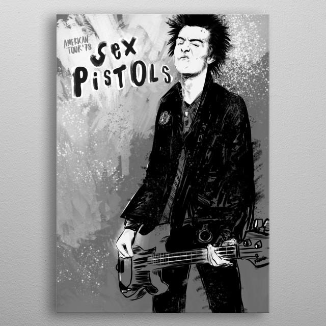 Sex Pistols GRAY metal poster