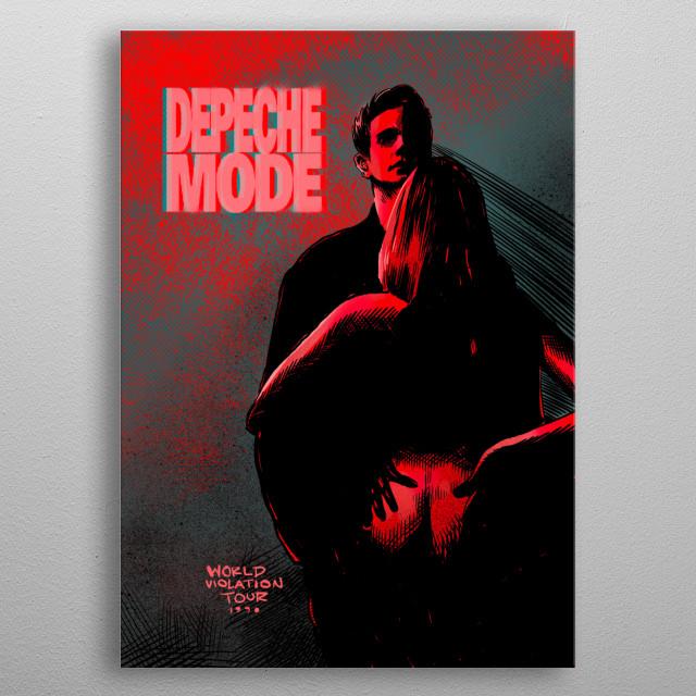 Depeche Mode metal poster