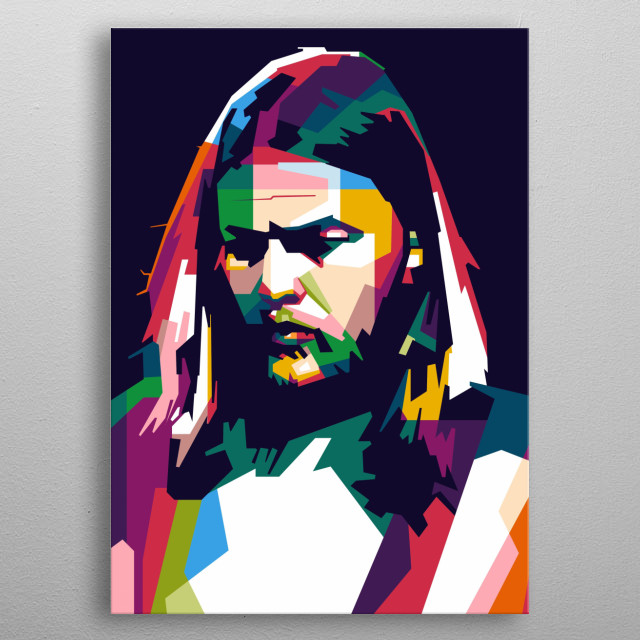 WPAP Pop Art Design Ilustration Portrait metal poster