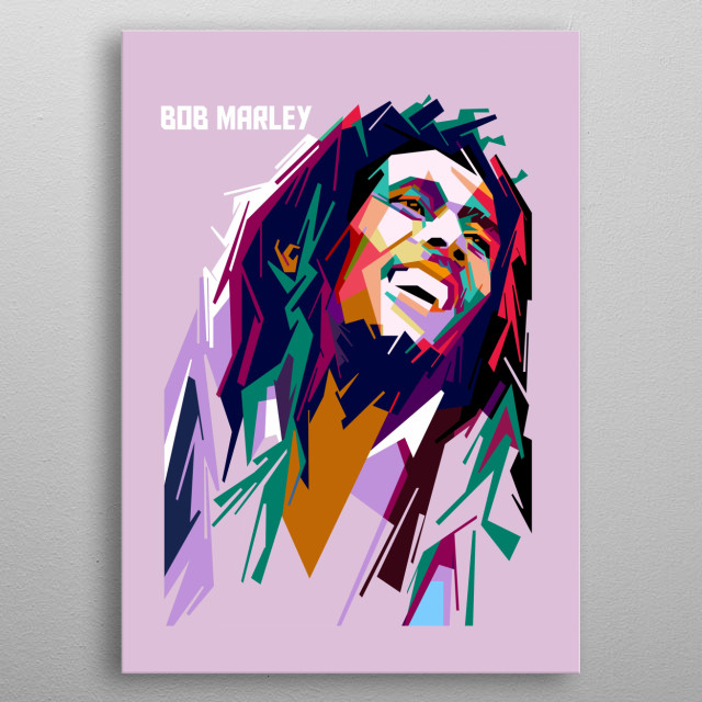 bob marley pop art, original artwork by colies design metal poster