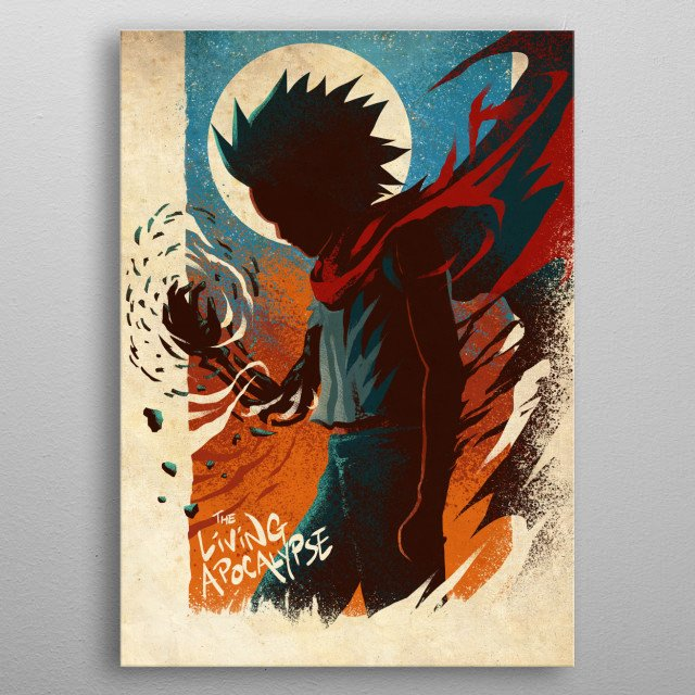 The Powerful Psychic Renegade from Akira metal poster