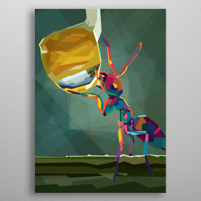 ant in style wpap pop at metal poster