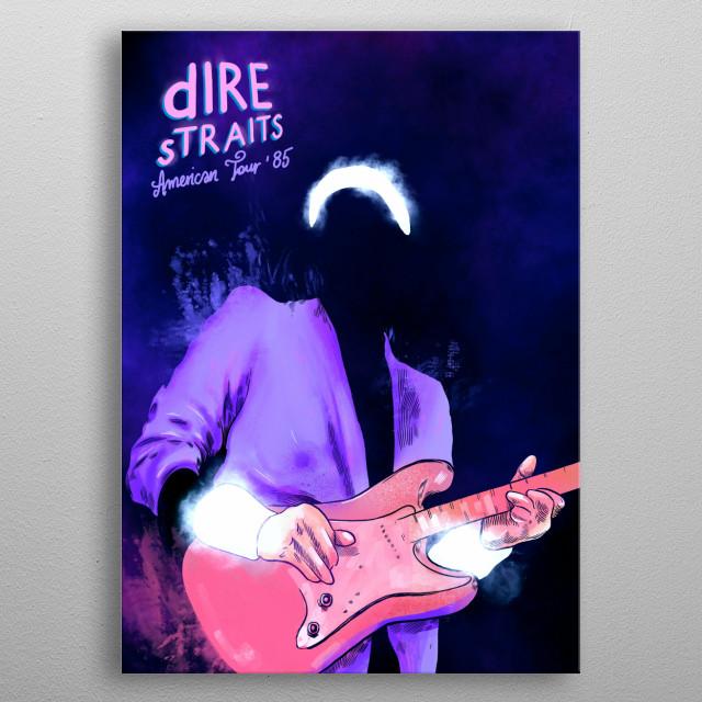 Dire Straits metal poster