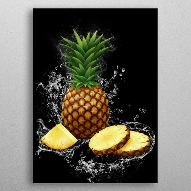Pineapple metal poster