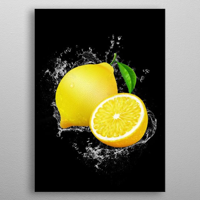Lemon metal poster