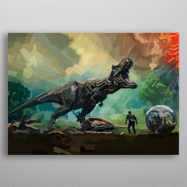 the king of dinosaurs metal poster