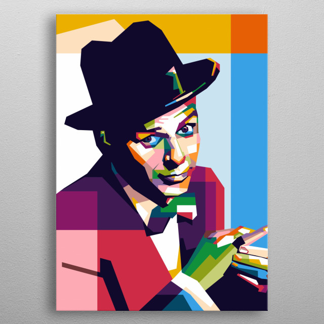 Frank Sinatra in Style WPAP Design Ilustration metal poster