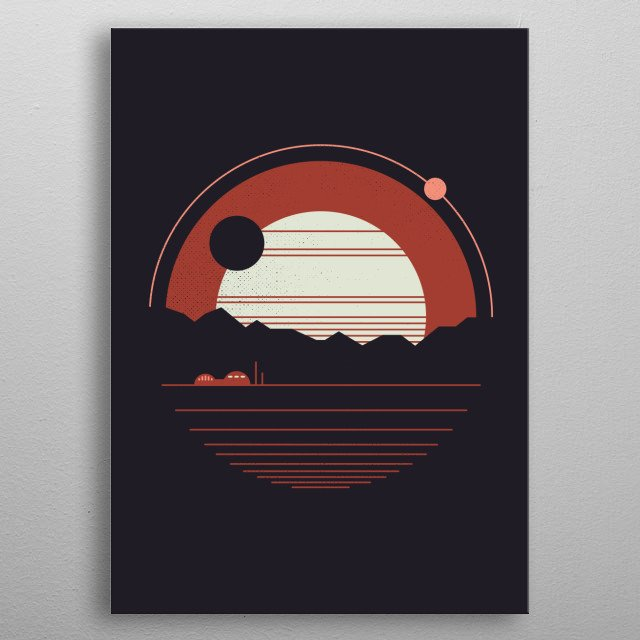 A long, long way from home.... metal poster