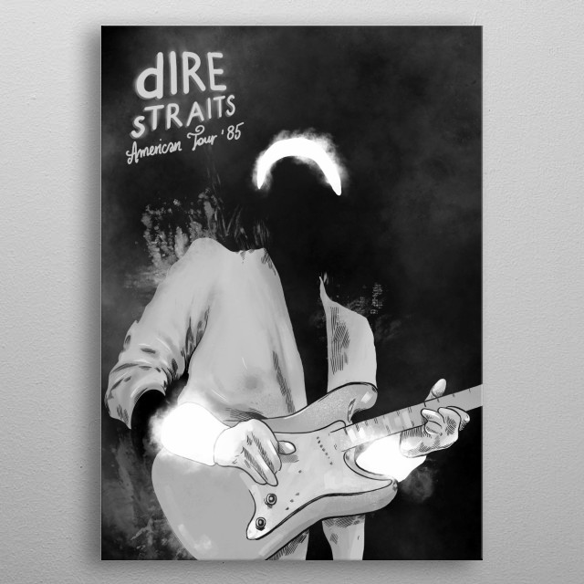Dire Straits GRAY metal poster