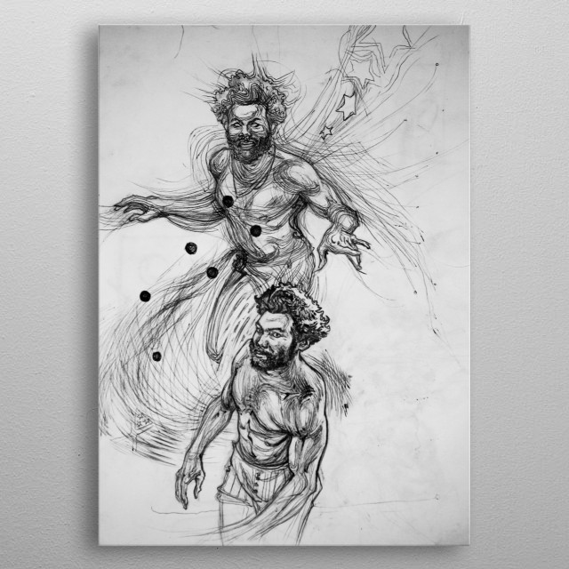 """a traditional illustration made from videoclip scens """"This is America"""" metal poster"""