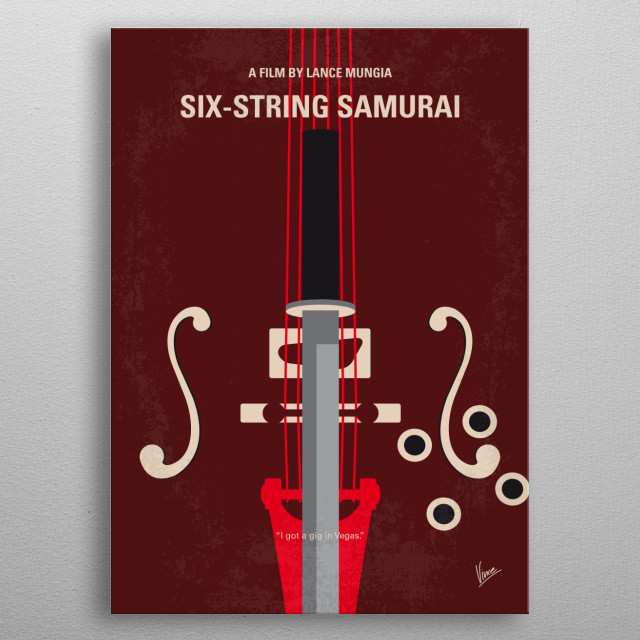 In the post-apocalyptic world of 1960s Nevada a rock 'n' roll samurai on his way to Lost Vegas takes a young orphan boy under his protection metal poster