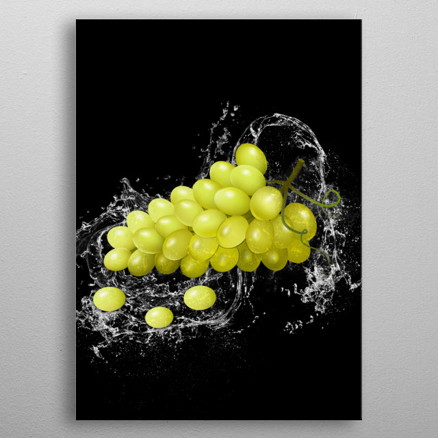 Grapes metal poster