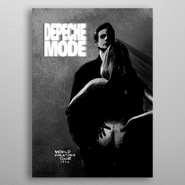 Depeche Mode GRAY metal poster