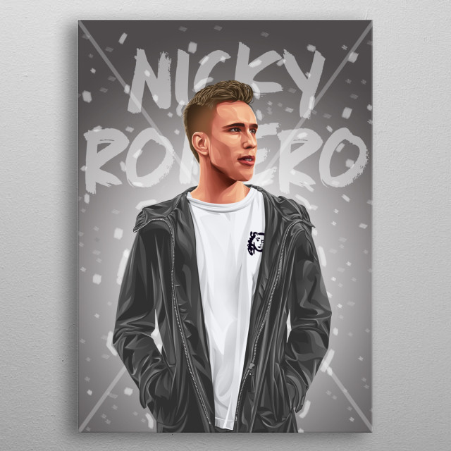 Nicky Romero is an international DJ. I made because I am a fan of him. I make this work by paying attention to every detail  metal poster