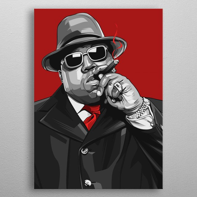 Biggie Black and Red Edition metal poster
