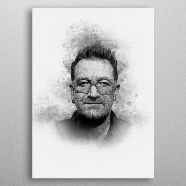 Paul David Hewson, KBE OL, known by his stage name Bono, is an Irish singer-songwriter and musician. metal poster
