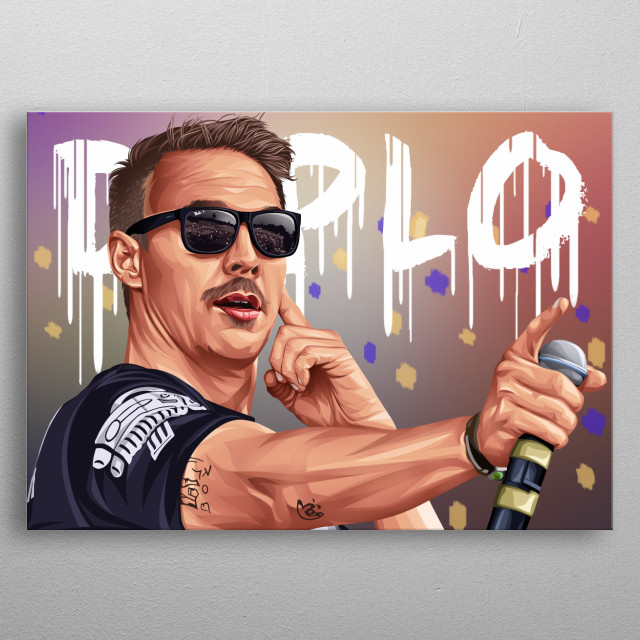 Diplo is a world-famous DJ. I'm a fan of him. therefore I made a work for him. with a touch of color that is pleasing to the eye metal poster