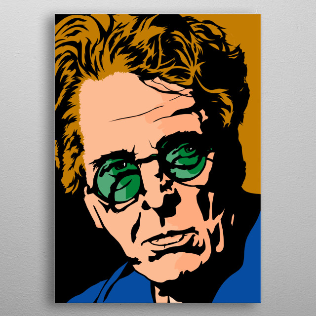 One of Irelands most prominent, revered and established writers and poet, WB Yeats and his work is known the world over. metal poster