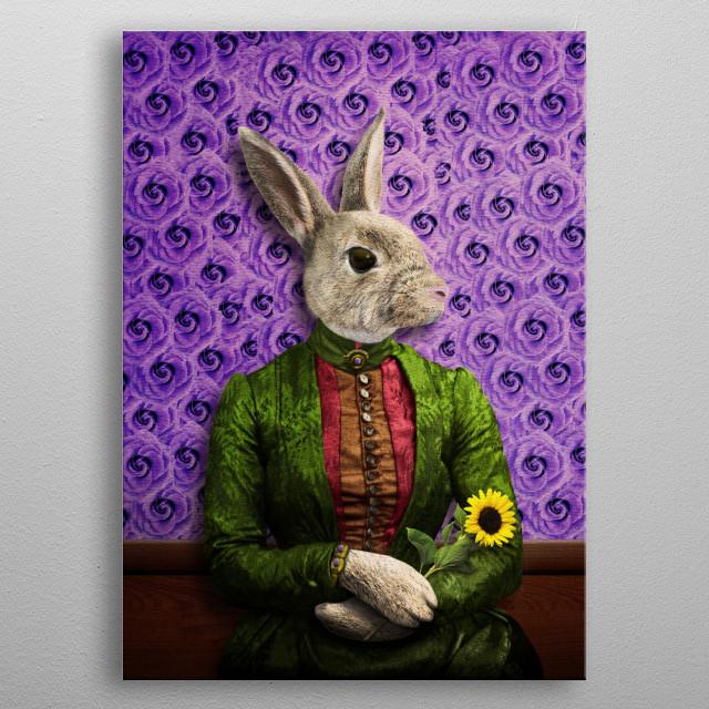 Miss Bunny Lapin in Repose metal poster