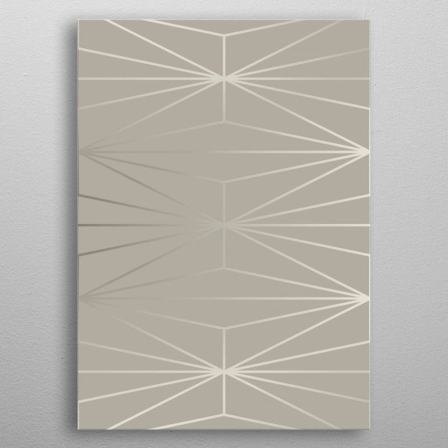 Geometric pattern design with elegant gray silver diamonds.© 11-2018  by Pia Schneider | atelier COLOUR-VISION  metal poster
