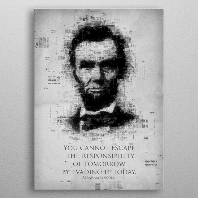 Abraham Lincoln metal poster