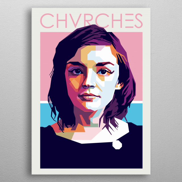 Lauren Mayberry of CHVRCES metal poster