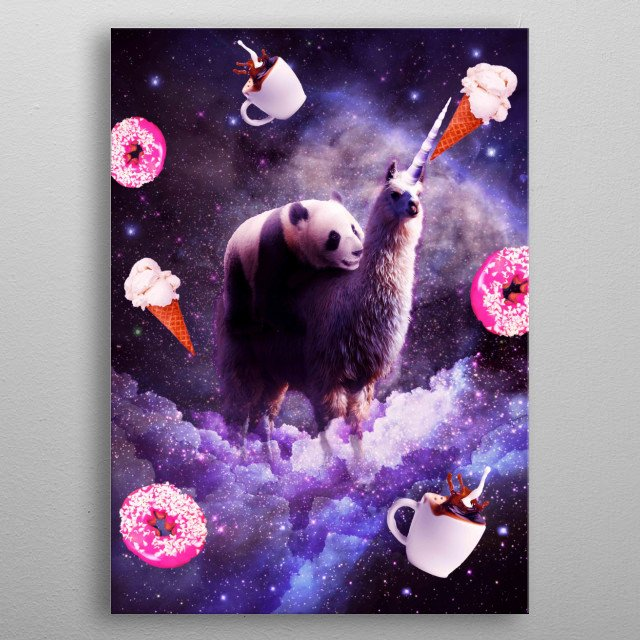 Pick up this epic funny outer space design.  metal poster