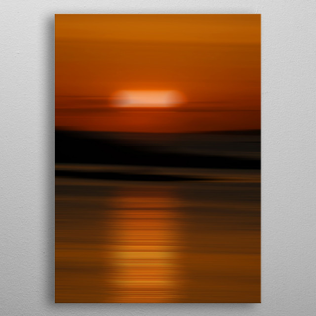 Gorgeous sunset at Rhosneigr beaches on Anglesey. metal poster