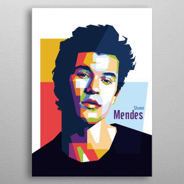 Shawn Mendes in WPAP Pop Art metal poster