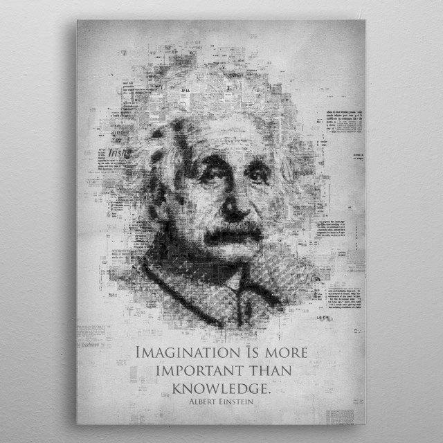 High-quality metal print from amazing Famous Quotes collection will bring unique style to your space and will show off your personality. metal poster