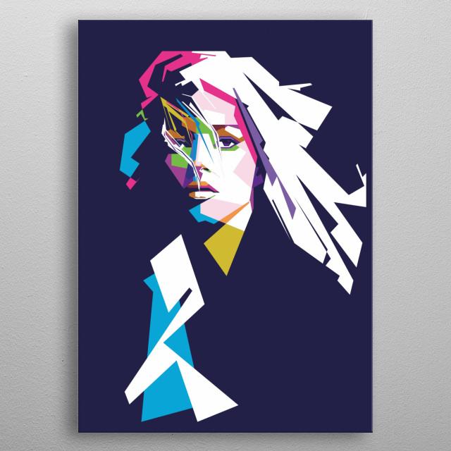 bad girl pop art style metal poster