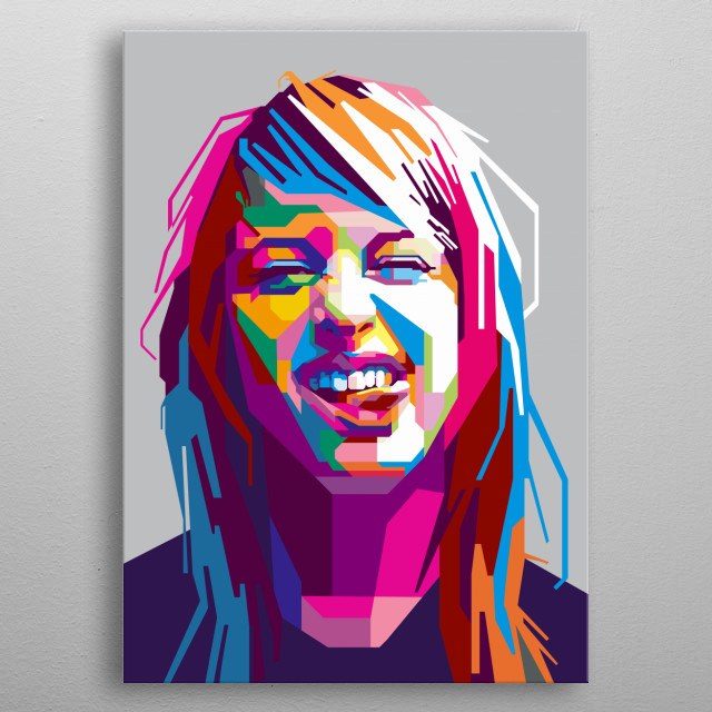 Hayley Williams of Paramore metal poster