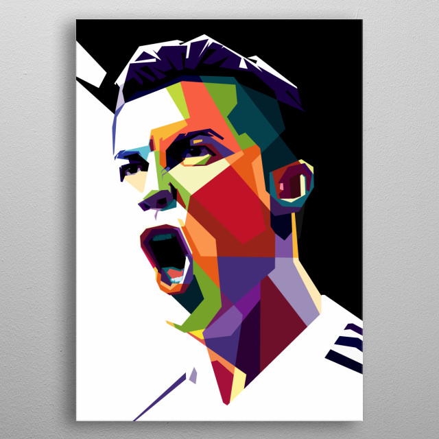 Cristiano Ronaldo is the football player of Juventus. If you are fans of him you should see this cool Pop Art WPAP, for your collection metal poster