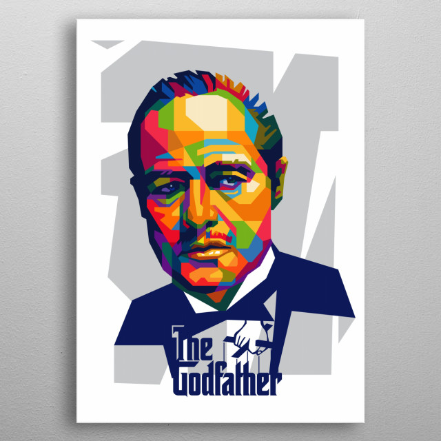The Godfather in Popart Illustration metal poster