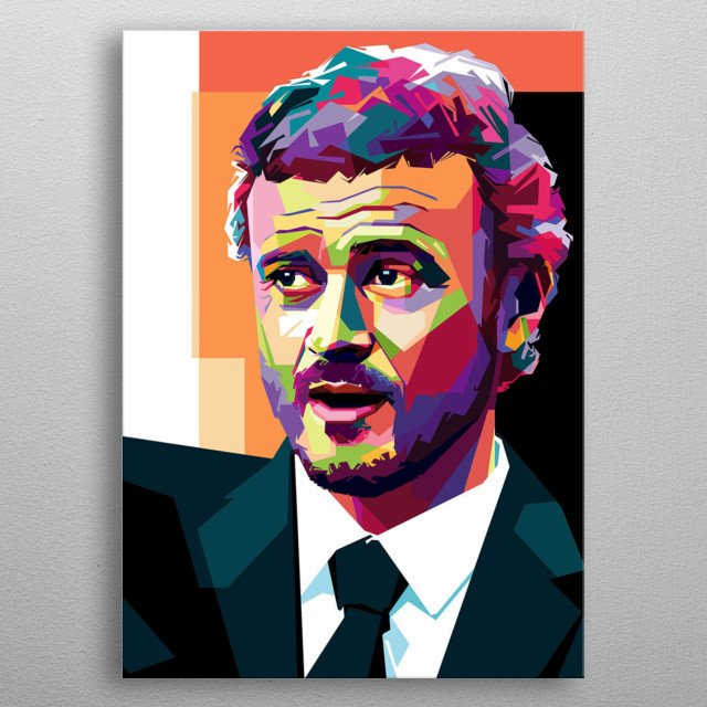 Luis Enrique is the coach of football. If you are fans of him you should see this Pop Art WPAP, for your collection metal poster
