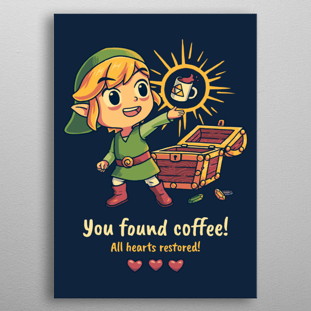 This mighty treasure has been hidden in the cave of Eternal Mondays for centuries.  metal poster