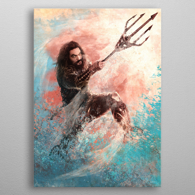 Aquaman Pastel metal poster