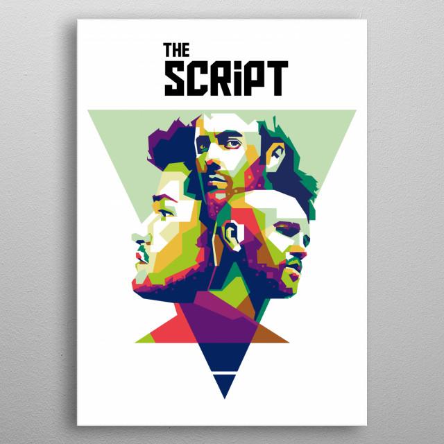 The Script in WPAP Pop Art metal poster