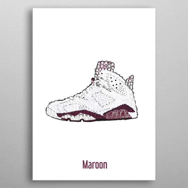 JORDAN 6 MAROON_003 metal poster