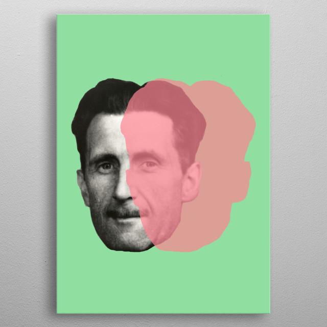 George Orwell Green metal poster
