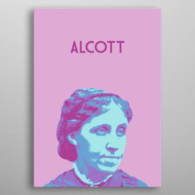 Louisa May Alcott metal poster