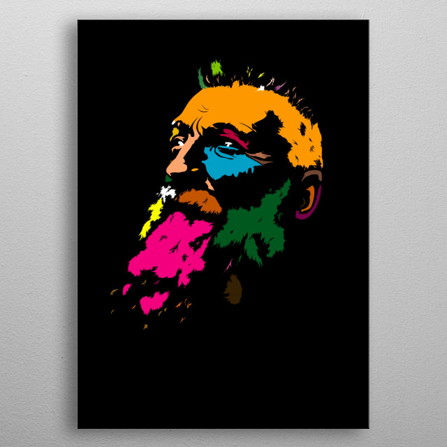 The greatest sculptor of the 19th century François Auguste René Rodin was born in 1840. This is my homage to him. metal poster